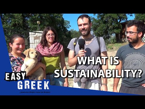 What does sustainability mean to you? | Easy Greek 48 photo