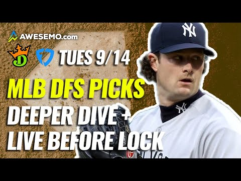 The MLB DFS Deeper Dive & Live Before Lock | DraftKings & FanDuel Picks Today Tuesday 9/14