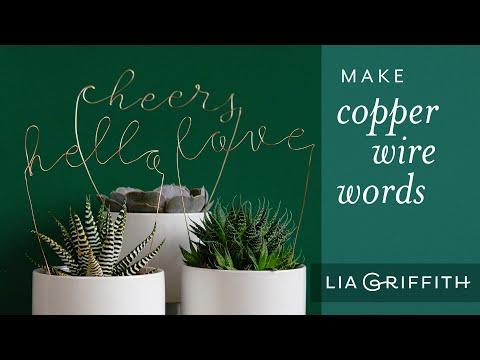 DIY Wire Words