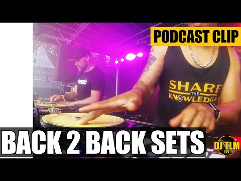 Playing back to back DJ sets - Share The Knowledge podcast clip