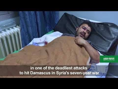 Grief and stitches at Damascus hospital after rocket attack