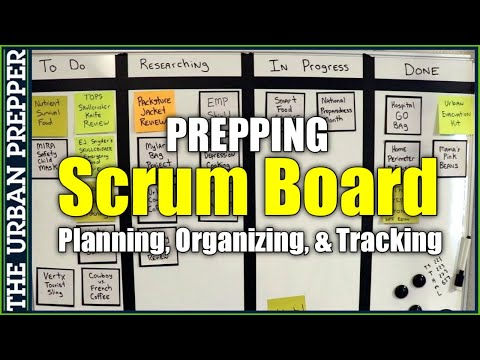 SCRUM BOARD for PREPPERS to Plan, Organize, and Track Prepping Projects