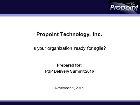 PD2016 S18: Ready for Agile? Take an Agile fit-ness test - Propoint
