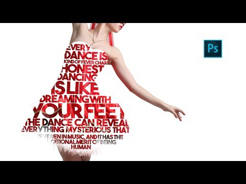 How to Create Full Body LETTER PORTRAITS |  Photoshop Tutorial