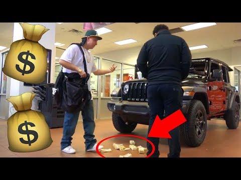 GANGSTA BUYS SUPER CARS WITH $500,000 CASH PRANK!!