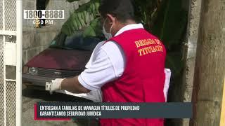 Gobierno de Nicaragua continúa con la entrega masiva de títulos de propiedad