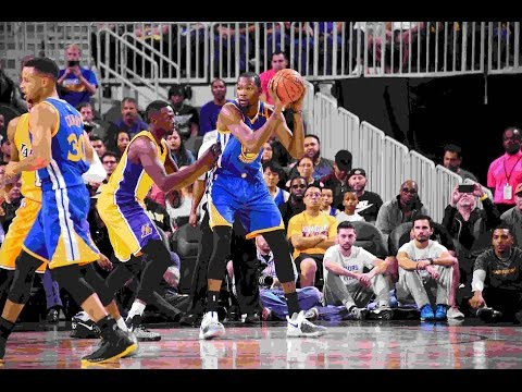 Thompson, Durant Erupt for 41 Points in 112-107 Win Over Lakers