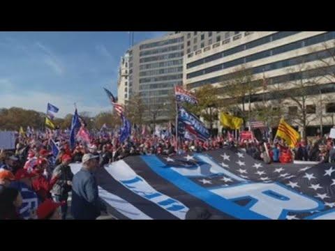 Miles denuncian en Washington fraude electoral sin pruebas jaleados por Trump