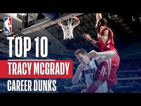 Tracy Mcgrady's Top 10 Career NBA Dunks!