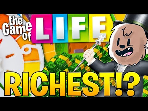 connectYoutube - THE RICHEST MAN IN THE WORLD - THE GAME OF LIFE (BOARD GAME)