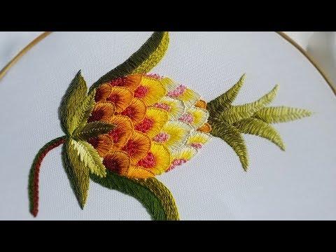 Hand embroidery |design Pineapple | Якобинская вышивка
