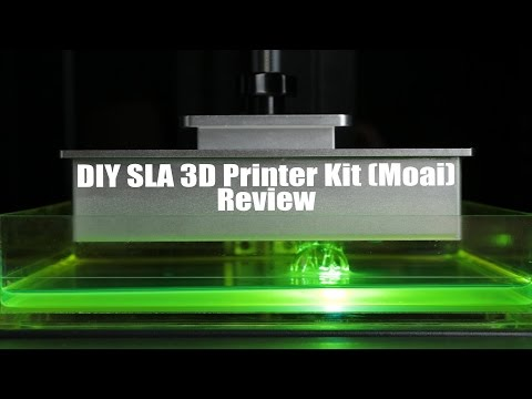 DIY SLA 3D Printer Kit (Moai) Review