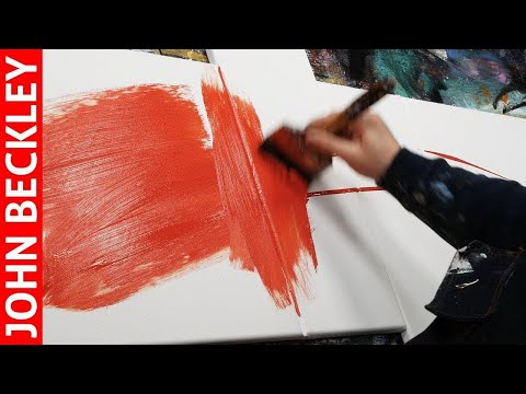 Abstract Painting EASY With Masking Tape | Inaro