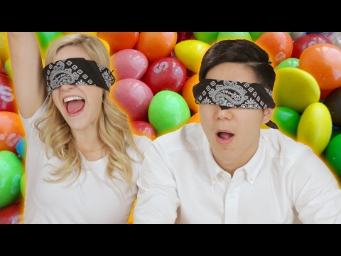 People Guess Skittles Flavors Blindfolded
