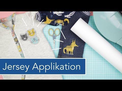 Jersey Applikation mit Strechfix auf Babykleidung