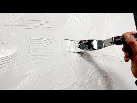 Peinture acrylique - tableau contemporain démonstration | Midnight