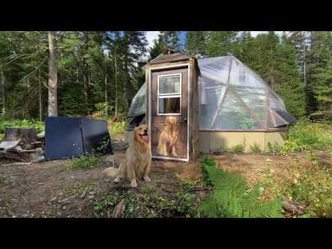 Complete Off Grid Greenhouse Build in the Forest