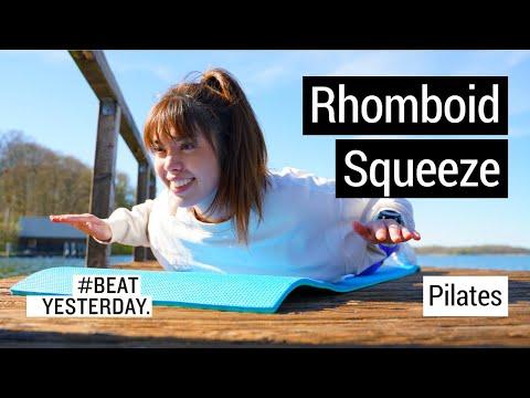 Pilates: Kontrolliert zu kräftigen Muskeln mit dem Rhomboid Squeeze