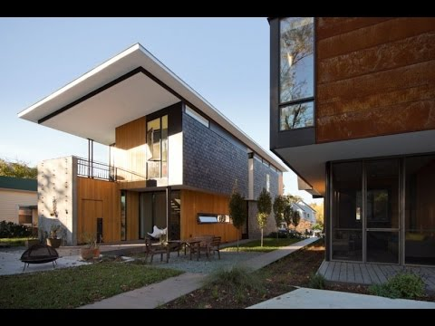 Couple Sustainable Modern House with Touch of Rusty Exterior Design
