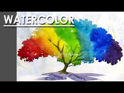 Easy Creative ways of Painting Tree in Watercolor | Watercolor for Beginners