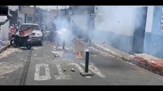 Celebración con bombas en Feria de Mixco, deja herido gravemente a hombre, una explotara en su casa