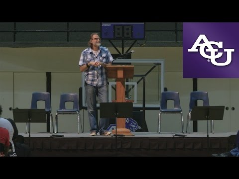 ACU Chapel with Richard Beck; October 24, 2016