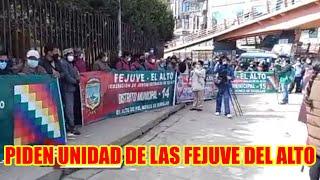 JUNTAS VECINALES DELA CIUDAD DEL ALTO PIDEN UNIÓN DE LAS FEJUVES...