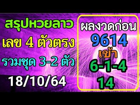 สรุปวิเคราะห์เลขหวยลาว-18/10/2