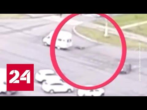 Вылетел из окна: в Магнитогорске из маршрутки выпал пассажир