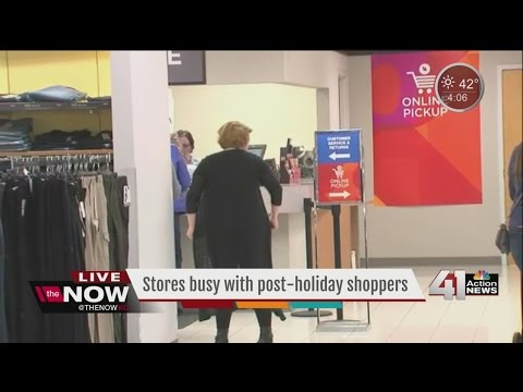 Stores busy with post-holiday shoppers