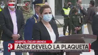 Develan plaqueta conmemorativa a Óscar Urenda en el hospital de Montero