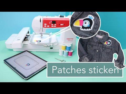 Patches / Aufnäher Sticken für Anfänger mit der Stickmaschine