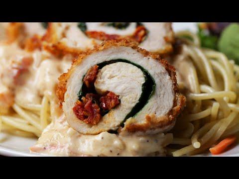 Creamy Tuscan Chicken Rolls ? Tasty