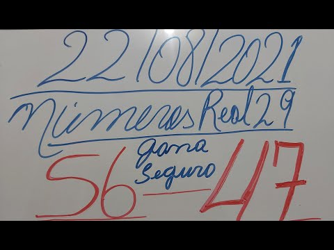 NUMEROS PARA HOY 22/08/2021 DE AGOSTO PARA TODAS LAS LOTERIAS¡¡¡numeros real29