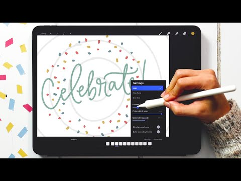 Create a Simple Confetti Animation in Procreate