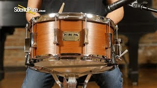 Pork Pie 7x14 Maple Snare Drum Quartered Mahogany Veneer-Quick 'n' Dirty