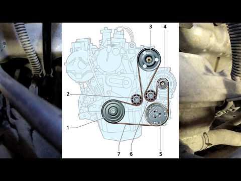 Замена Ремня Генератора на Рено Логан  1.6 8v гур, кондиционер photo