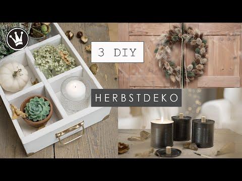 3 DIY HERBST-/WINTERDEKO IDEEN   die schönsten  Ideen zum Selbermachen für dein ZUHAUSE   Verlosung