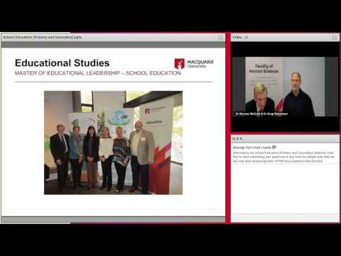 School Education (Primary and Secondary) at Macquarie University