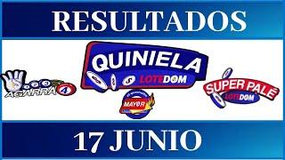 Lotería Quiniela LOTEDOM Resultados de hoy