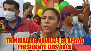 MAS-IPSP. Y ORGANIZACIONES SOCIALES DE TRINIDAD SE MOVILIZ4N EN APOYO AL PRESIDENTE LUIS ARCE