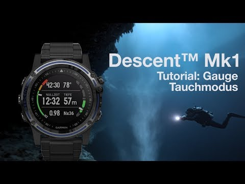 Descent™ Mk1 Tutorial - Gauge Tauchmodus