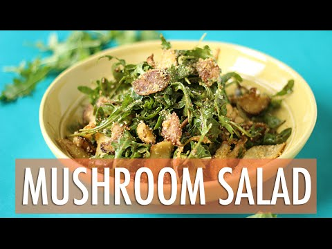 Warm Crispy Mushroom Salad Recipe | EASY Dinner Recipe