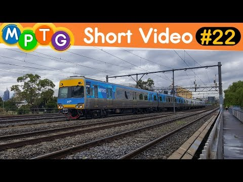 Metro Trains on Cremorne Railway Bridge in South Yarra (Short Video #22)