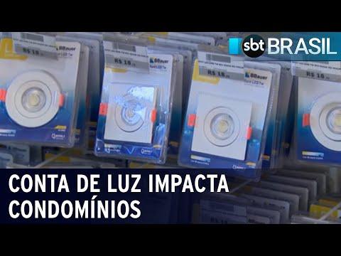 Síndicos de condomínios buscam alternativas para economizar energia | SBT Brasil (16/07/21)