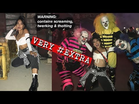 BEING EXTRA AF AT SIX FLAGS FRIGHT FEST 2018! (and twerking with clowns) | VLOG | Nava Rose