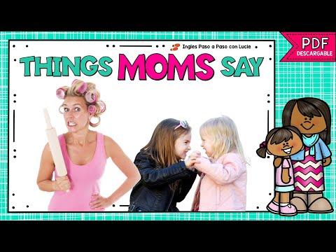 COSAS QUE DICEN LAS MAMÁS | EXPRESIONES EN INGLÉS DEL DÍA DE LA MADRE | MOTHER'S DAY