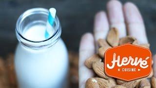 Recettes de cuisine : Hervé Cuisine Astuce cuisine : faire du lait d'amande maison (lait végétal sans lactose) en vidéo