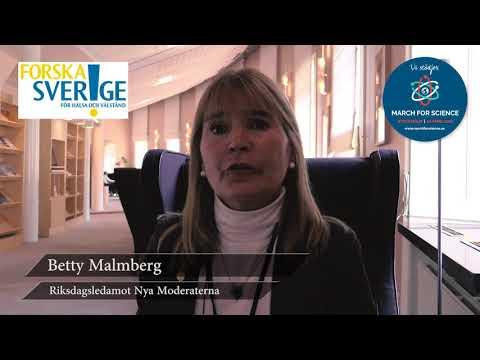Varför stödjer du March for Science? Betty Malmberg, Riksdagsledamot Nya Moderaterna