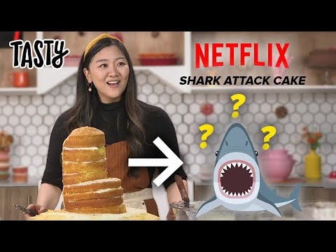 I Tried To Recreate The Famous Shark Cake From Nailed It! ?Tasty